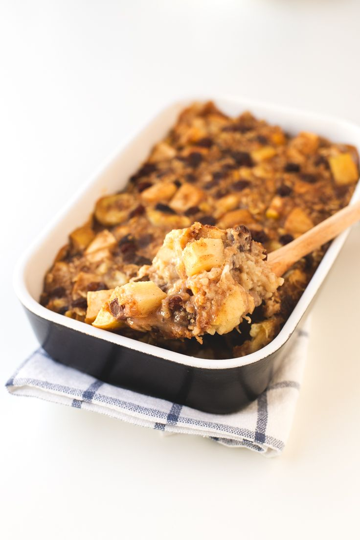 This apple pie baked oatmeal is so easy to make, you just need to mix all the ingredients in a bowl place them in a baking dish and bake until golden brown.