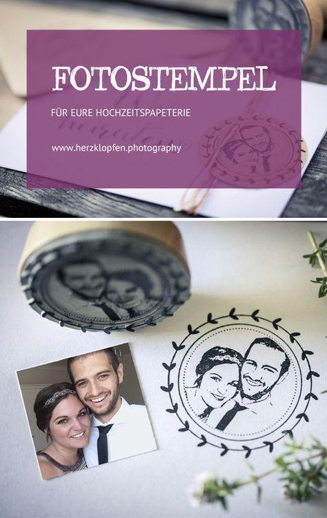 Hochzeitspapeterie: Foto Stempel für eure Hochzeits Papeterie