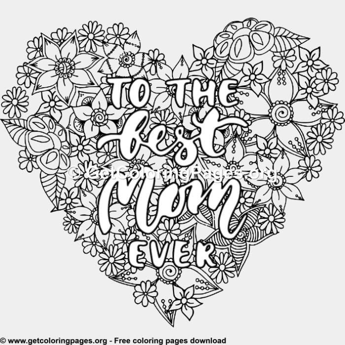 Mother To The Best Mom Ever Coloring Pages Mothers Day