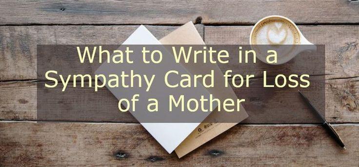 Help me write a sympathy note