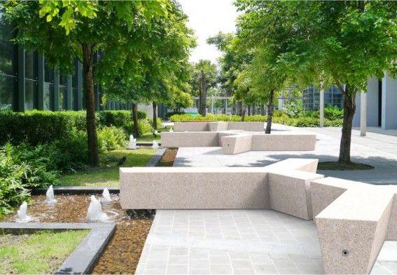 #concrete #bench #urban furniture