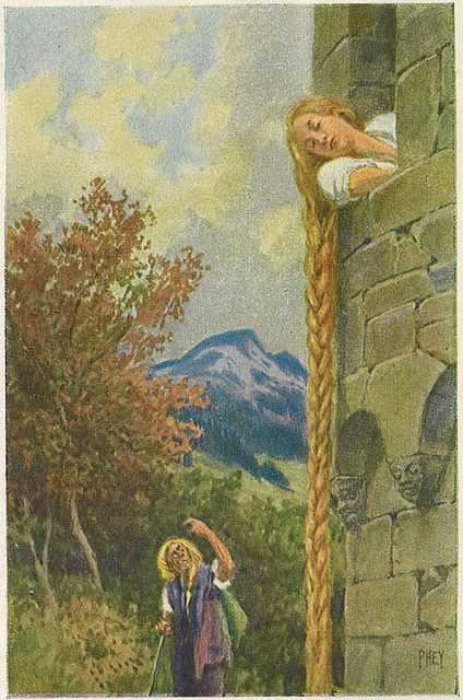 Rapunzel -- Paul Hey -- Fairytale Illustration