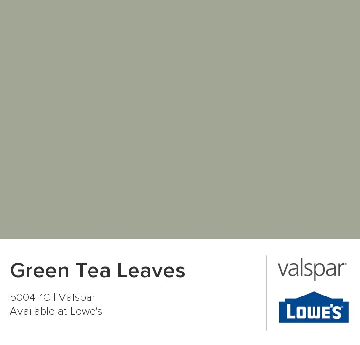 Green Tea Leaves from Valspar