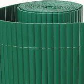 Cloture en canisse PVC double face, couleur vert. Pour protection votre jardin ou balcon de vues indiscrètes. Notre canisse PVC est très résistante aux intempéries et UV's.