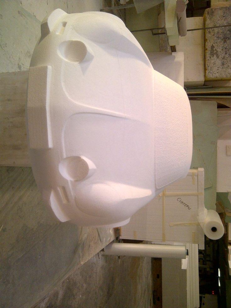 Vue de face du prototype de l'alpine http://www.formes-et-volumes.fr/actualite.html