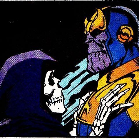 Thanos and Mistress Death. #thanos #death #georgeperez #infinitygauntlet #infinitywar #marvel #marvelcomics #mcu #marvelcinematicuniverse #silversurfer #adamwarlock #gaurdiansofthegalaxy