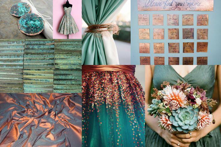 copper-aqua-wedding-inspiration: Aqua Wedding, Colors Combos, Hilton Head, Copper, Myrtle Beaches, Colors Palettes, Wedding Colors, Colors Schemes, Head Favorite