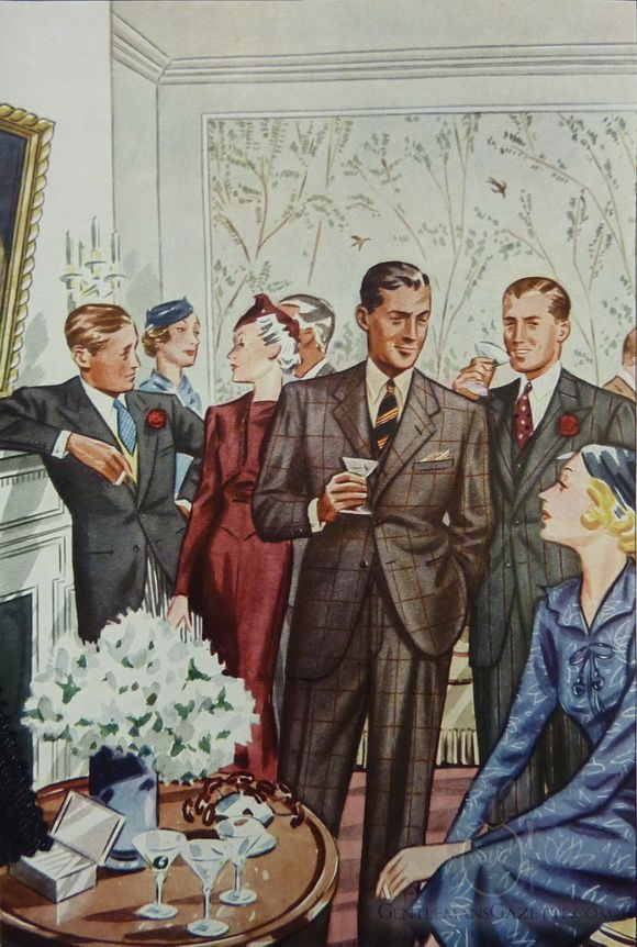 What happened to cocktail culture? Bring it back by throwing a couple of chic soirées and let your guests know to look dapper.