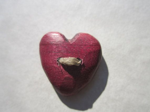 Custom Set- Heart Button Purple-  in Reclaimed Purpleheart- Wooden Button- Knitting, Sewing, Craft Buttons