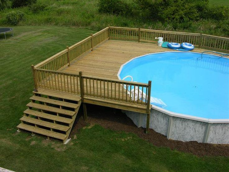 Image Result For 24 Ft Above Ground Pool Deck Plans