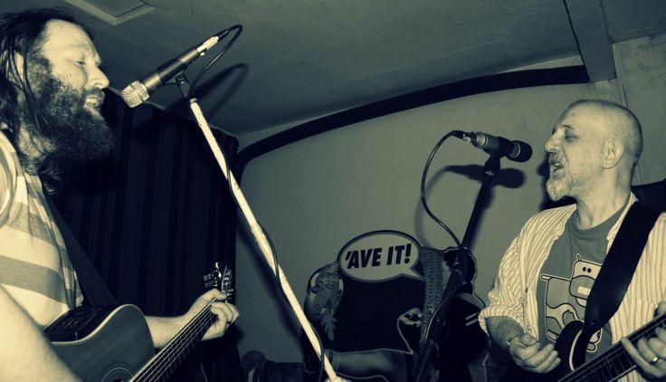 Me & Jon rehearsing. #livemusic
