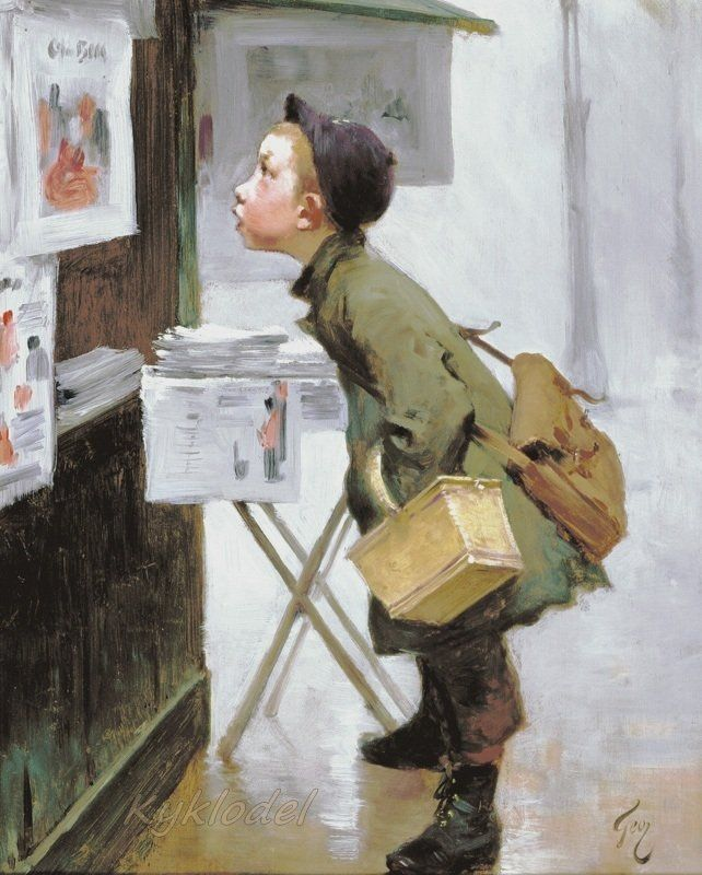 "SERENITY: HENRY JULES JEAN GEOFFROY and the surprising SALE ""STORIES"" OF CHILDREN AND CHILDREN - 1853 - 1924 French Painter"