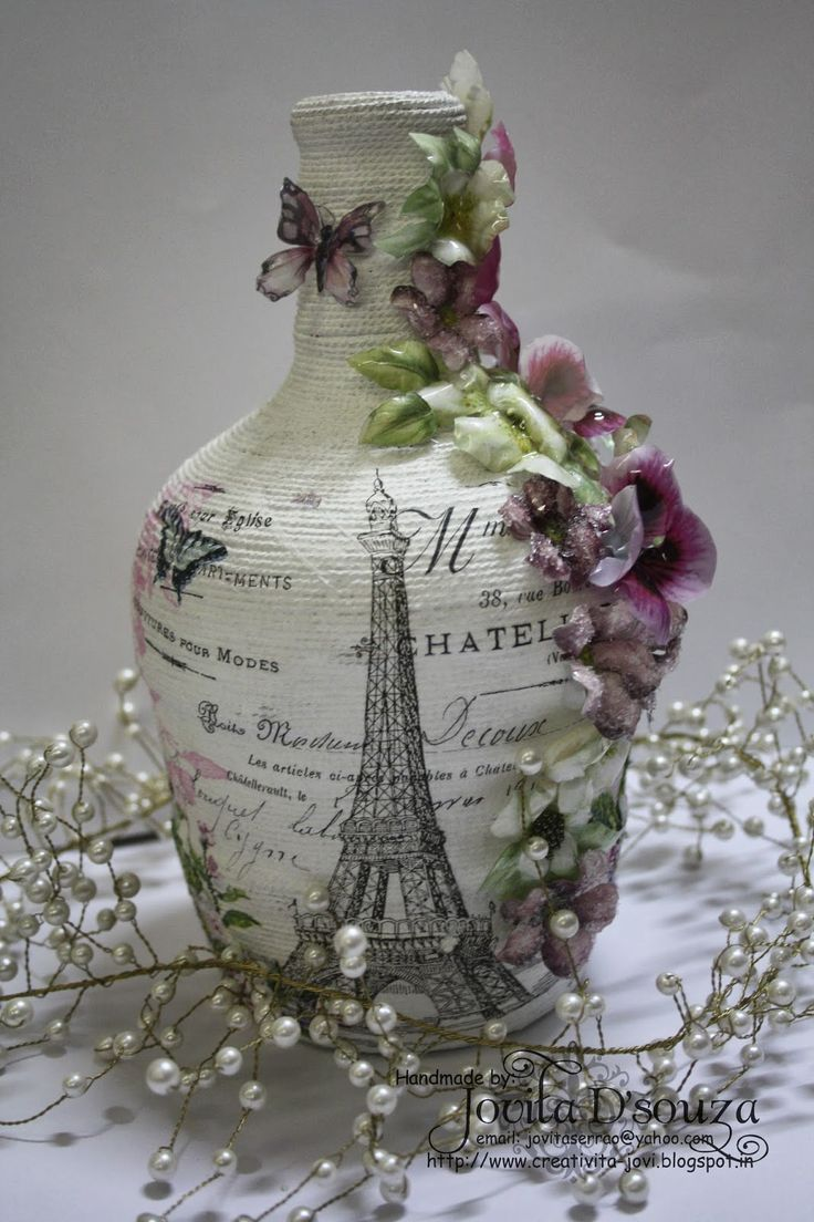 Beyond Grey Challenges: Complete Makeover - Challenge #48 - Shabby Chic Bottle