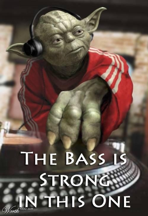 The bass is strong with this one #yoda #starwars #music #DJ
