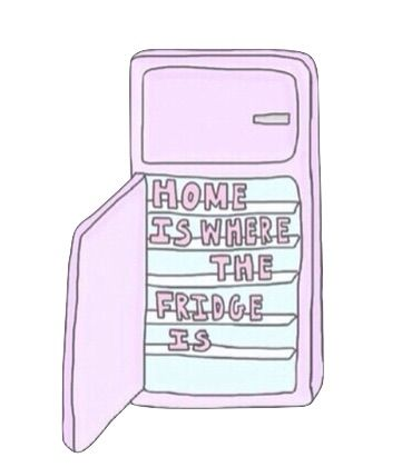 Home is where the fridge is. Tumblr overlay