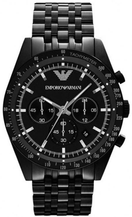 Emporio Armani AR5989 Mens Black Sportivo Watch