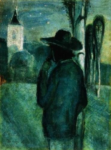 Gulácsy, Lajos (1882-1932) - In the Night, about 1900-1905