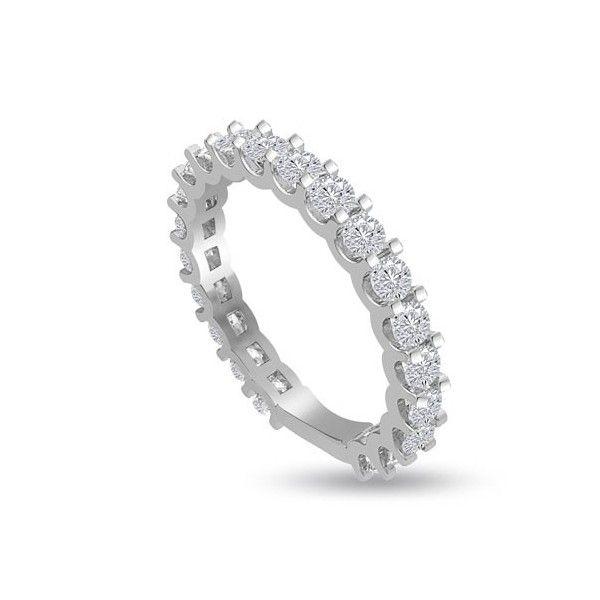 FULL VERETTA ANELLO 18CT ORO BIANCO | Anello Full Eternity con Diamanti Taglio Brillante montati in Griffe. Il peso totale dei carati dei diamanti varia da 1.05ct a 1.50ct.Il numero dei diamanti per anello varia a seconda della misura selezionata. Tutti I Diamanti sono F, G, H ed I colore e VS1 e SI1 purezza. Questo anello e` accompagnato dal certificato del diamante.