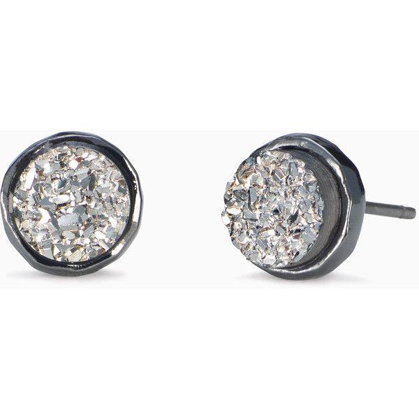 Stella & Dot Relic Studs ($24) ❤ liked on Polyvore featuring jewelry, earrings, stella dot jewelry, drusy earrings, fake stud earrings, imitation jewellery and stella dot earrings