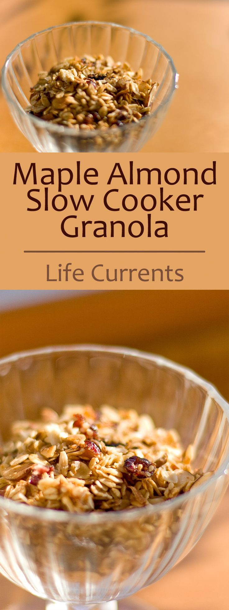 My Christmas Brunch menu plus an awesome recipe for Maple Almond Slow Cooker Granola - this recipe is so easy and so good!