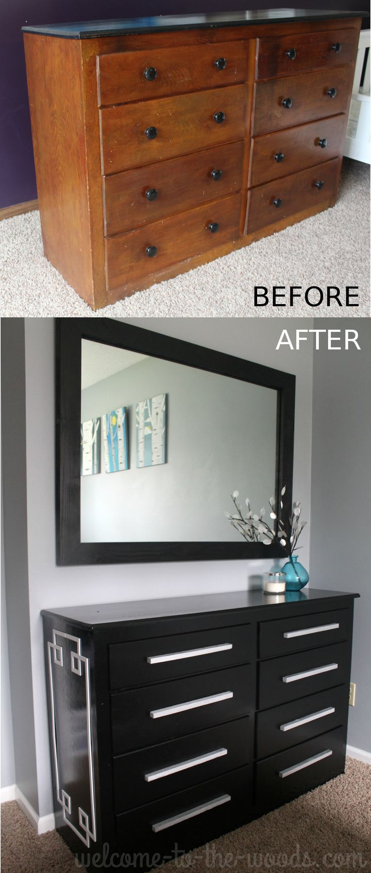 Black Modern Dresser Redo Cut N Paste With O Verlays Hometalk