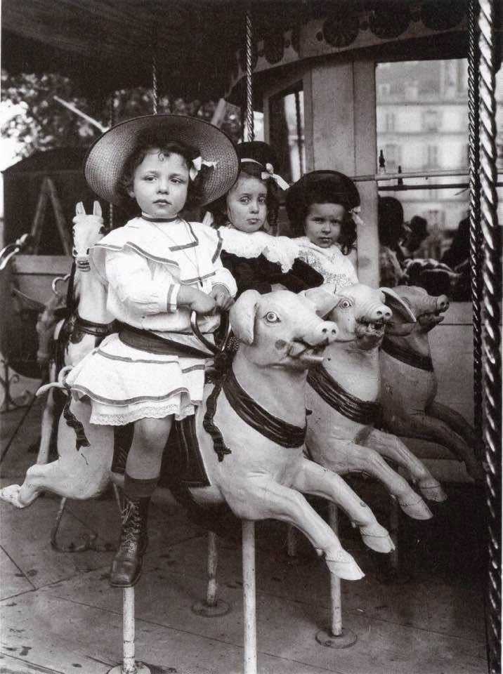 The Three Pigs. Coney Island. 1909.
