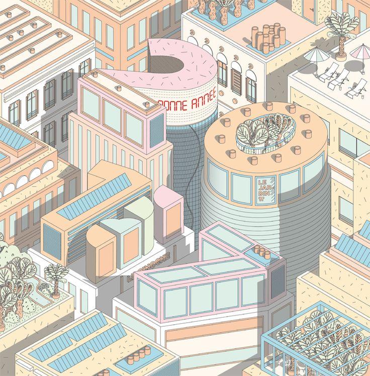 Carte de Voeux ABVA / Illustration / Dessin / Numérique / Hublot