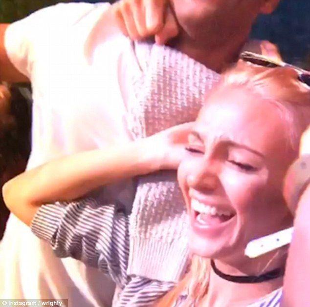 Michelle Keegan shows off new blonde hair