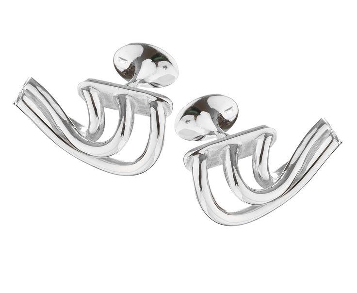 V6 Exhaust Cufflinks in 925 sterling #silver  www.huffyjewels.com