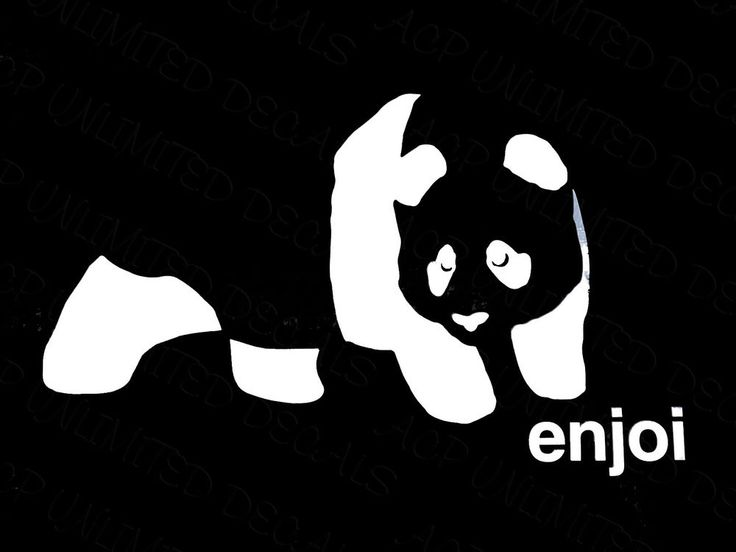 Enjoi Skateboards Panda Logo Sticker Decal Stick And Peel Skate Thrasher KOTR #acpunlimited