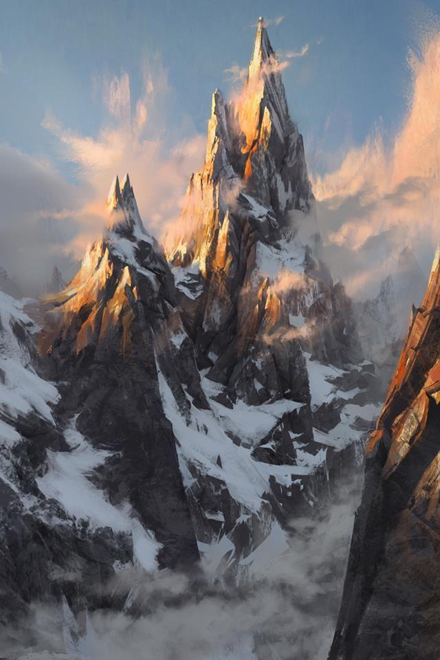 El pico de los gigantes, la montaña más alta de Vanhadun en Ristroir
