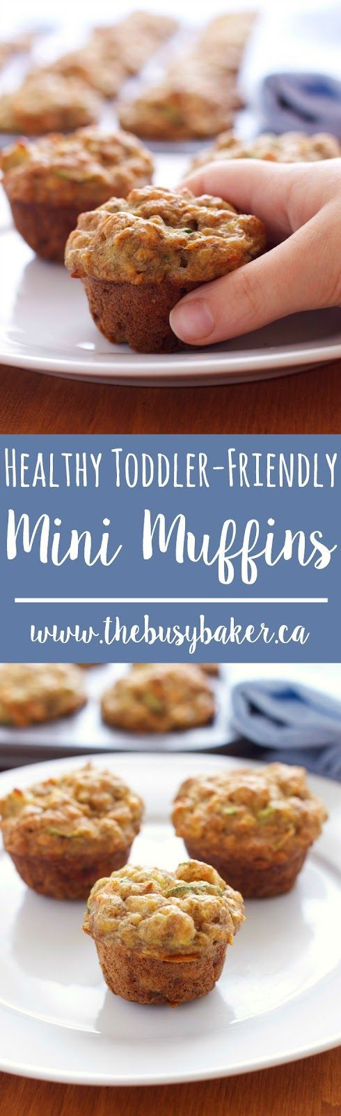 These Healthy Toddler-Friendly Mini Muffins are the perfect snack for kids! Recipe from thebusybaker.ca!