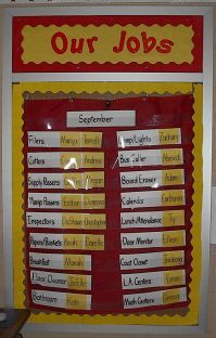 classroom jobs/helper ideas