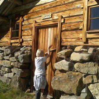 Crown station, gold mining village by river Ivalojoki M.