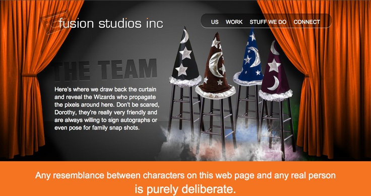 The Team page Fusion Studios