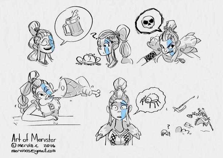 ArtStation - Varya the Vicious - female viking warrior, Mervin Chee