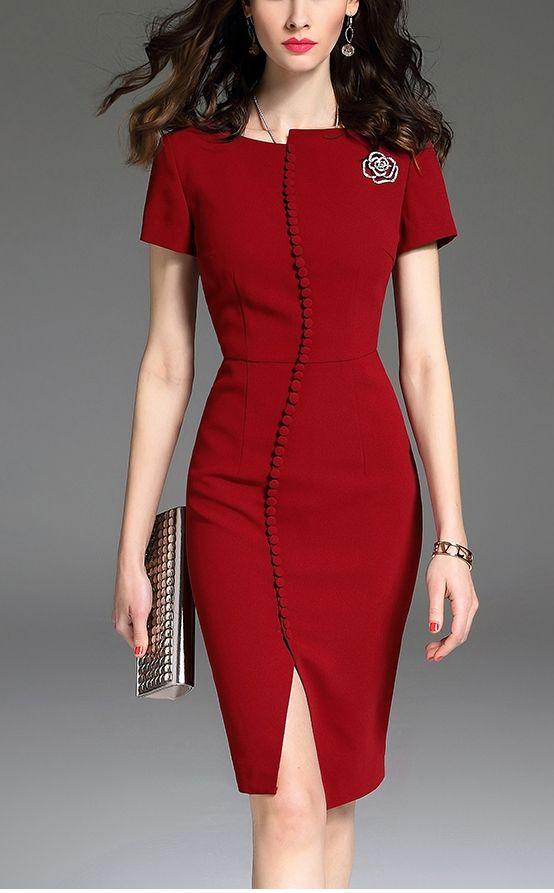 Slim Fit Professional Pencil Dress  dress  red  reddress  love  lovefashion   fashionable  pencildress  beautiful 934fc9f71
