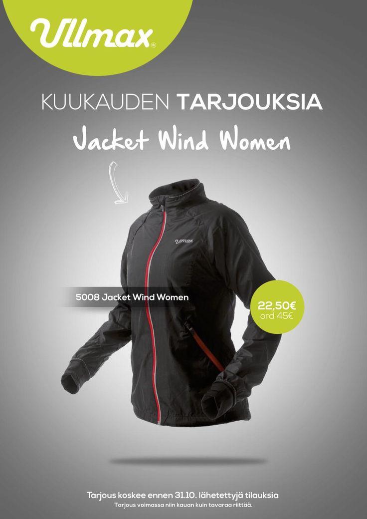 "Lokakuu tarjous ""Jacket Wind Women"" #ullmax http://www.ullmax.fi"