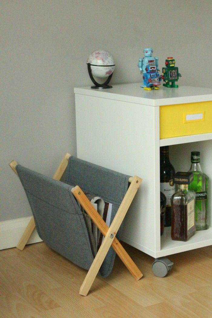DIY: folding magazine rack