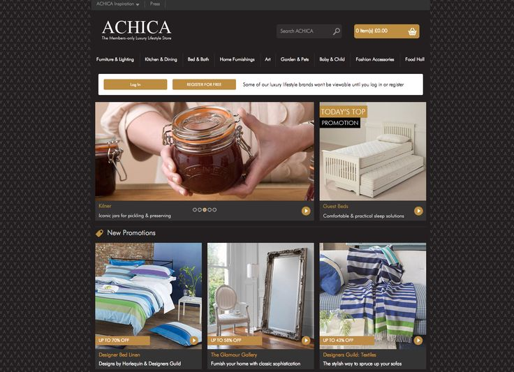 Achica homepage