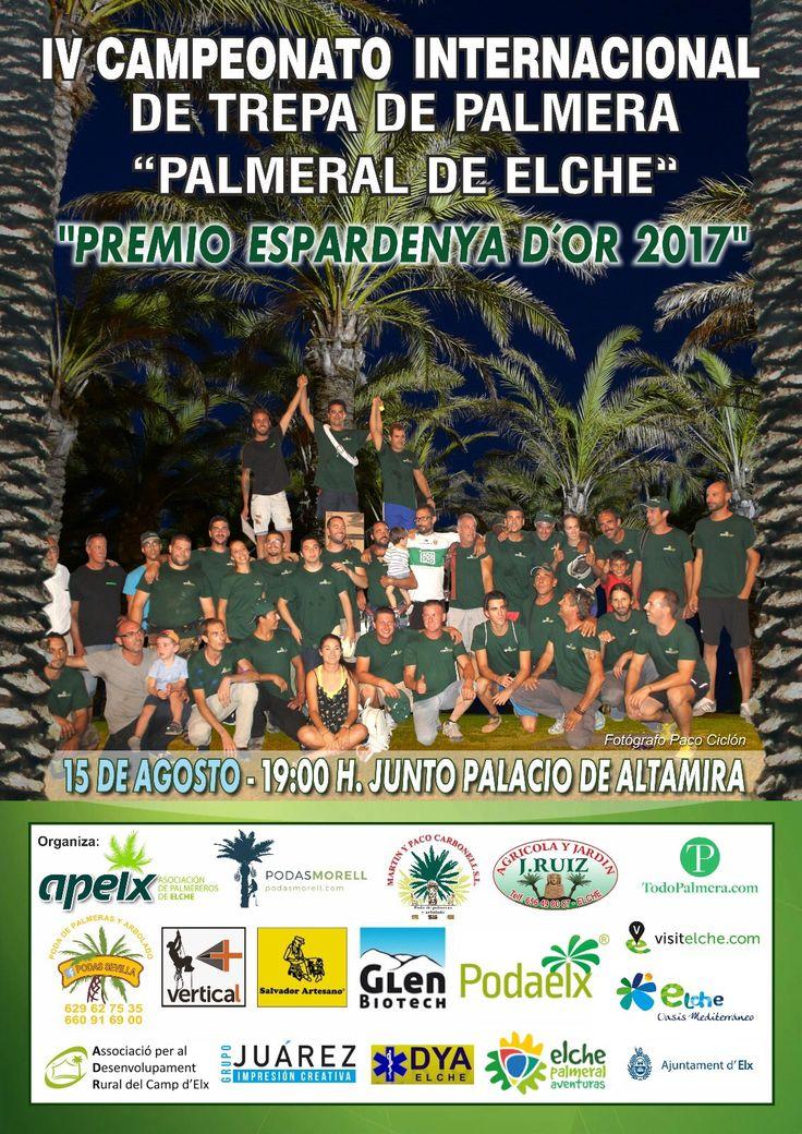 Salvador artesano zapaterías patrocinador del IV campeonato internacional de trepa de palmera