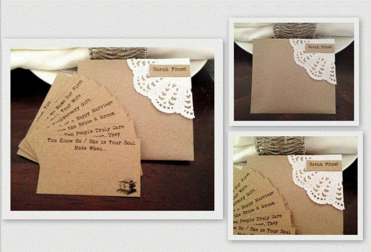 """Wedding Wishing Well Cards Guest Book Alternative - Guest Wedding Wishes Cards """"Typewriter"""" 10 Card Set plus Envelope Per Table by ThatVintageChic on Etsy https://www.etsy.com/listing/189037577/wedding-wishing-well-cards-guest-book"""