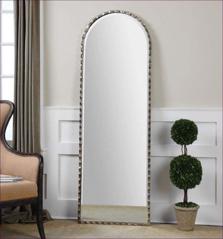 FurnitureBathroom Wall Mirrors Cathedral Arch Mirror Silver Stand Up Floor Leaning Full Length
