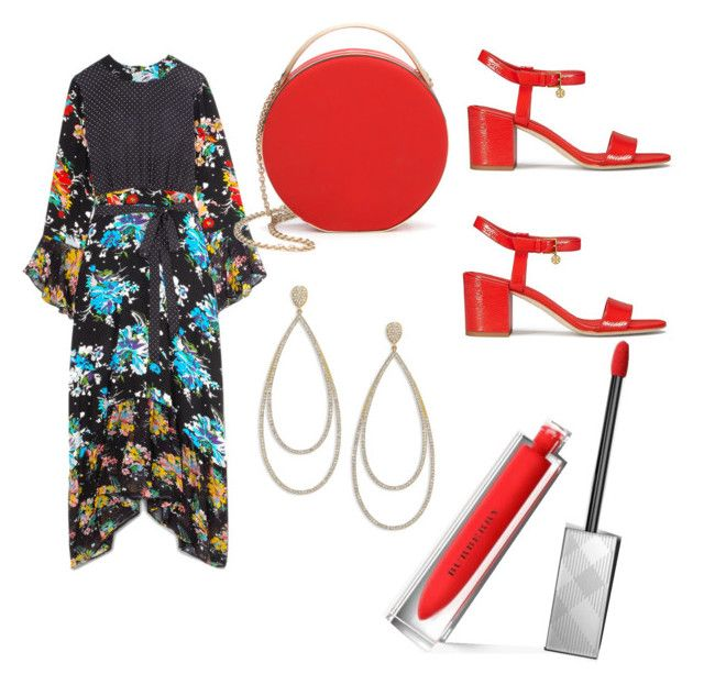 sofia by sofialarasofi on Polyvore featuring polyvore fashion style RIXO London Tory Burch 3.1 Phillip Lim Adriana Orsini Burberry clothing