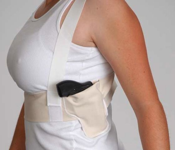 Concealed carry option.  More concealment but less accessibility.
