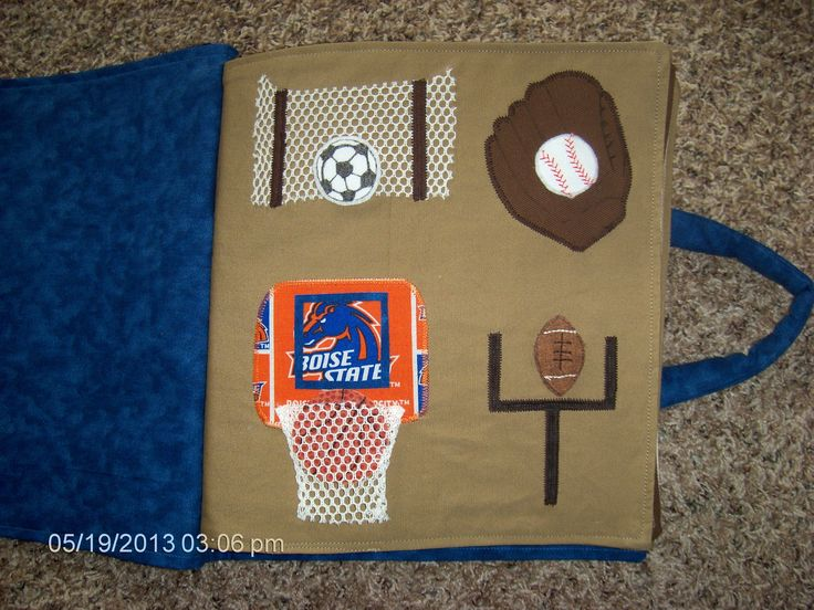 Sports page -- My grandson's quiet book I made for his birthday