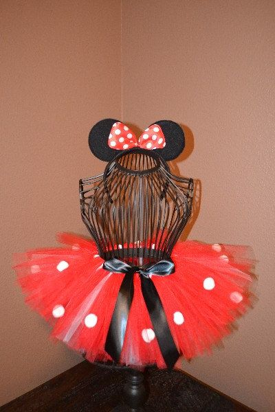 Rouge Minnie Mouse Tutu Costume accessoire par TutuliciousBoutique
