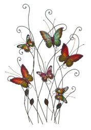 I absolutely love metal butterfly wall art. It is great for gardens, patios and even indoors in bathrooms, kitchens and hallways. Additionally, you can use butterfly home wall art décor in your bedroom. Overall this is beautiful, color and ever so cute #butterflies #wallart #homedecor   Deco 79 Metal Wall Decor, - butterfly home wall art decor