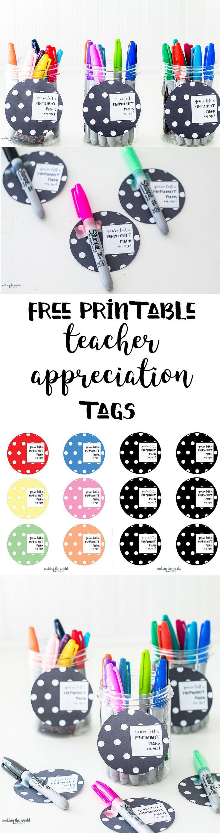 Sharpie Teacher Appreciation Gift Ideas http://makingtheworldcuter.com/2017/04/sharpie-teacher-appreciation/