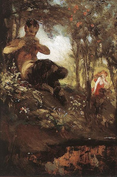 A faun, as painted by Hungarian painter Pál Szinyei Merse